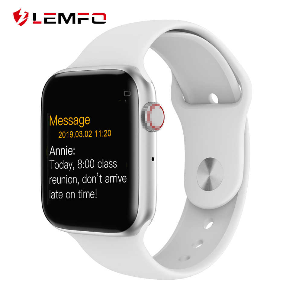 LEMFO Smartwatch Bluetooth Monitor de Freqüência Cardíaca Relógio Inteligente Série 4 44mm Case for Da Apple android relógio Telefone inteligente