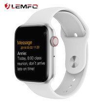 LEMFO Bluetooth Smart Uhr Serie 4 Herz Rate Monitor Smartwatch 44mm Fall für android Apple Telefon relogio inteligente(China)