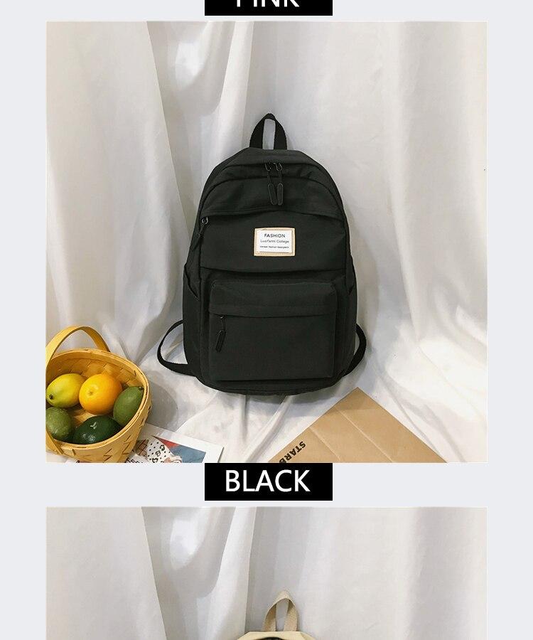 HTB1QNKkaW5s3KVjSZFNq6AD3FXaz 2019 New Backpack Women Backpack Fashion Women Shoulder nylon bag school bagpack for teenage girls mochila mujer