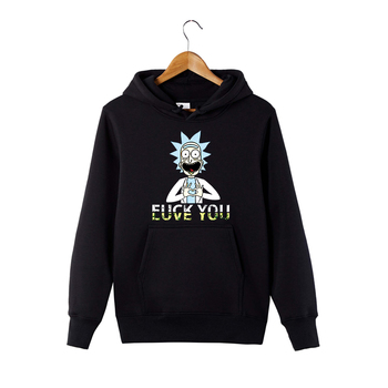 Rick and Morty Love You Hoodie Funny Graphic Sweatshirt Anime Rick Hooded Pullover худи xxxtentacion