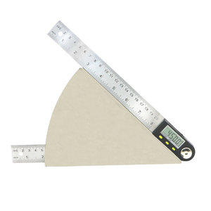 Image 3 - shahe 200 mm Digital Protractor Inclinometer Electron Goniometer Angle Ruler Stainless Steel Digital Level Measuring Tool