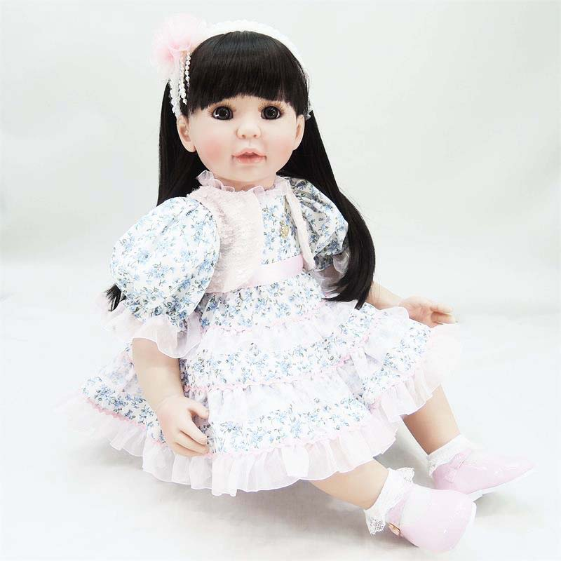 58cm vinyl silicone reborn baby doll simulated doll toddler princess brinquedos lifelike best birthday gifts play house toy role play dress up simulated lifelike reborn doll princess