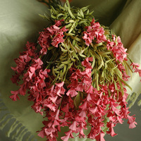 6pcs High Simulation Flower Hyacinth Pink Artificial Flower Bouquets The Living Room Display Flower Wedding Decoration