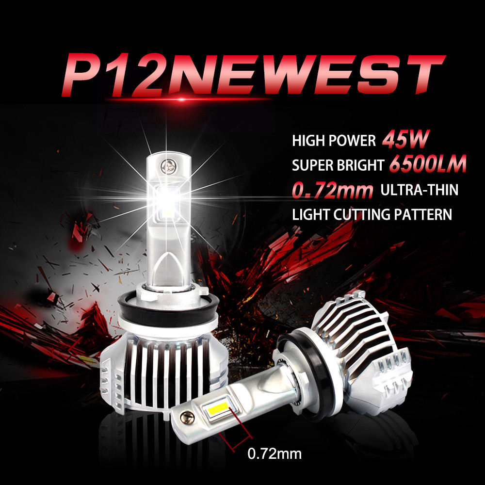 1 Set H8 H9 H11 P12 Car LED Headlight H4 HB2 H7 9005 9006 HB3 4