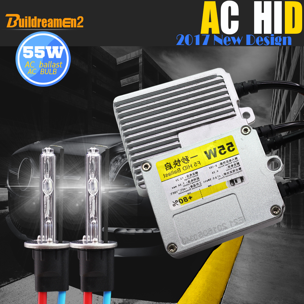 Buildreamen2 H1 H3 H7 H8 H9 H11 880 881 9005 9006 HB4 55W HID Xenon Kit 6000K Canbus Adapter AC Ballast Bulb Car Light Headlight buildreamen2 55w 9005 9006 h1 h3 h7 h8 h9 h11 880 881 hid xenon kit ac ballast bulb 10000k blue car headlight lamp fog light