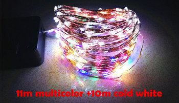 11/21m LEDs Outdoor Solar String Lamps