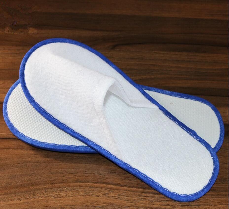 branco chinelos descartáveis terry spa convidados sapatos