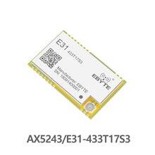 Ax5243 433 mhz tcxo ebyte E31 433T17S3 iot uart 무선 트랜시버 ipex 스탬프 홀 커넥터 wor 송신기 및 수신기