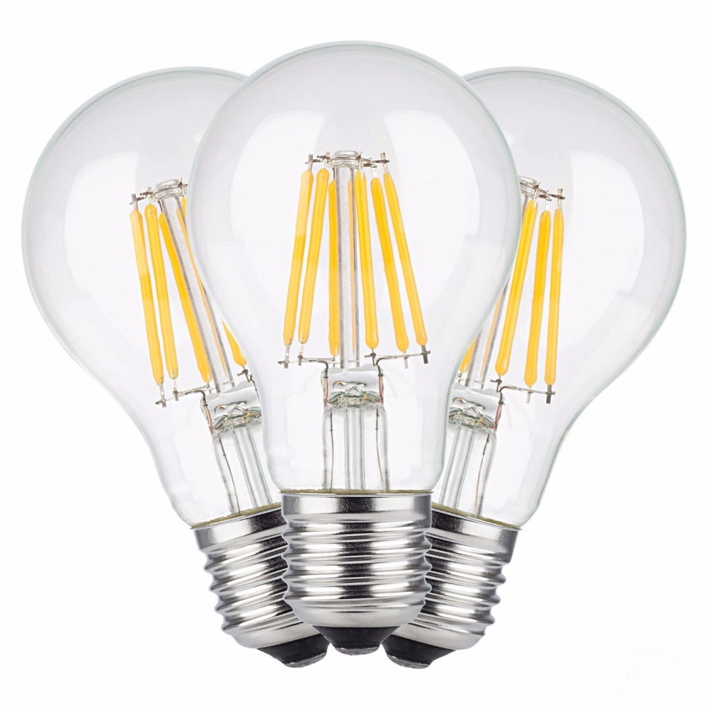 E27 Led filament bulb clear grass edison 2W 4W 6W 8W A60 G60 Light bulbs indoor home living room table 220V halogen bulb