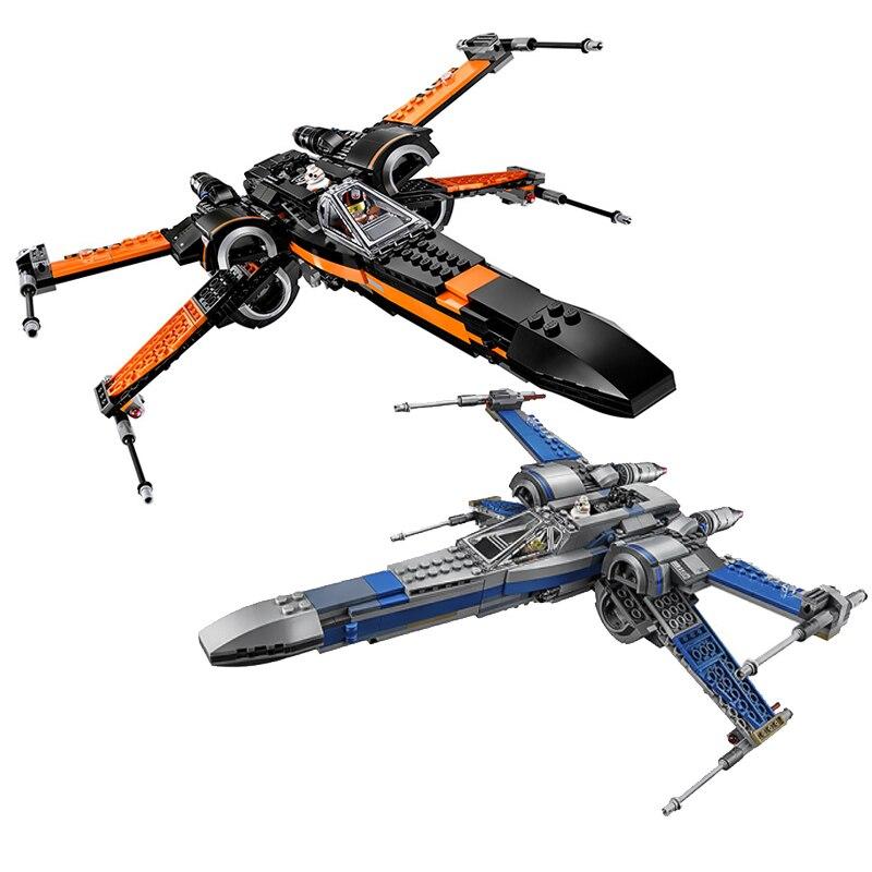 75149 75102 Star plans Series First Order Poe's X Fighter Wing Building Blocks Bricks Set Toys For Children 05004 05029 Gift конструктор lepin star wnrs истребитель сопротивления x wing fighter 740 дет 05029
