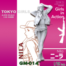 1/35 Resin Kits (Tokyo Beauty Girl Soldier Series (50mm)A-039