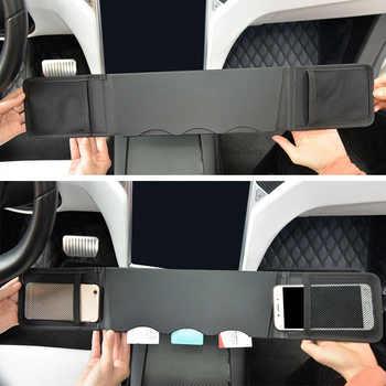 1pc SEEYULE Car Center Console Storage Bag Card Organizer Phone Holder Armrest Box Accessories for Tesla Model S Model X