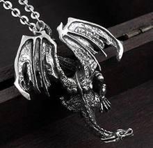 Классное ожерелье в стиле панк готика муха дракон тьма Вау Подарочная