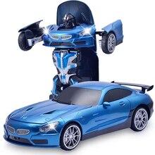 2In1 RC Car Transformation Robots Sports car
