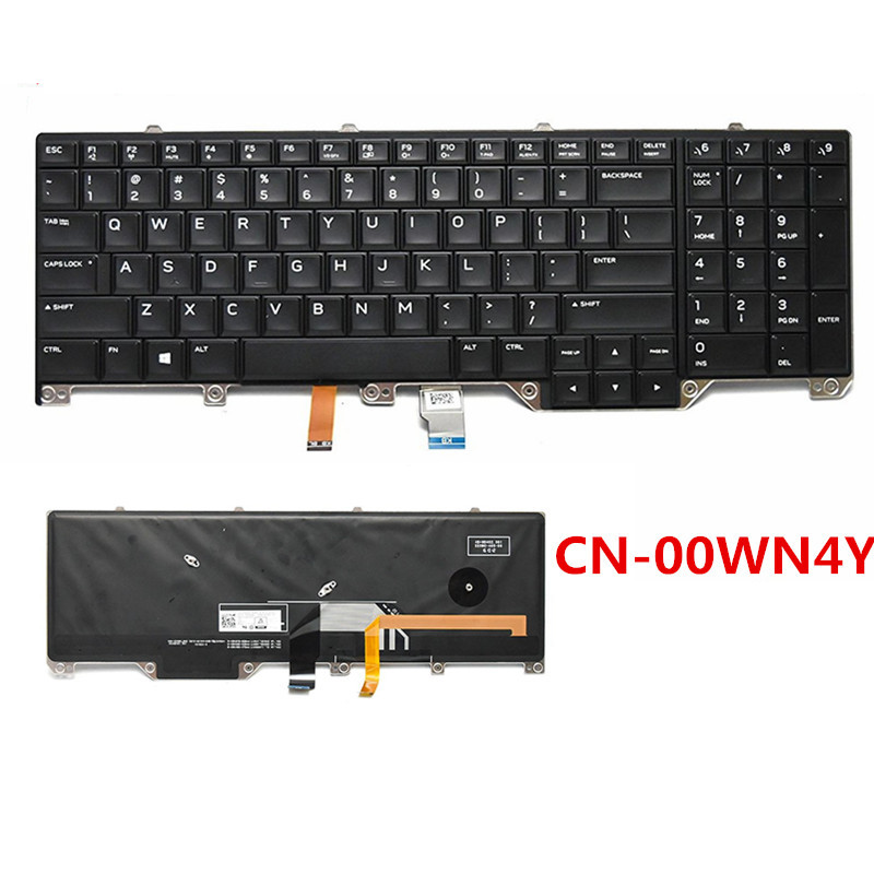 New US keyboard for Dell Alienware series 17X R4 with backllit black CN 00WN4Y 0WN4Y free