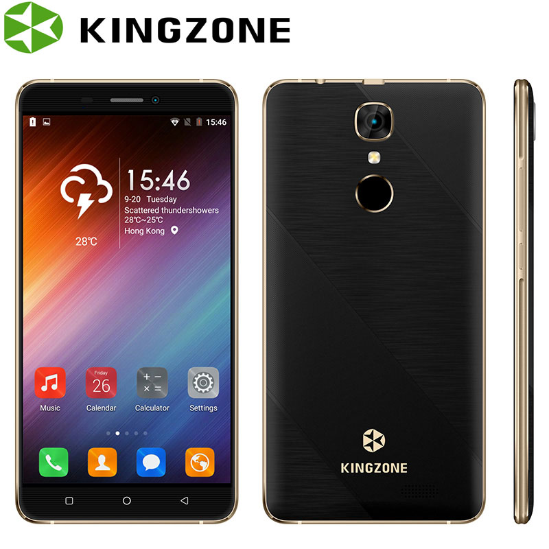 Kingzone S20 Shockproof Smartphone 5 5 1GB RAM 16GB ROM Quad Core Fingerprint Phone 8MP 3000mAh