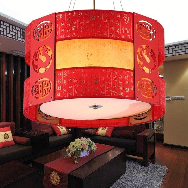 Chinesischen Stil Holz Pendelleuchten Imitation Klassischen Für Wohnzimmer  Schlafzimmer Schärfen Dekorationen Flur Runde Pendelleuchte ZAG