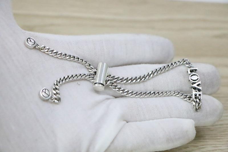 Pulsera de cadena ajustable de Plata de Ley 925 para mujer encantadora estilo coreano pulsera de plata tailandesa femenina joyería de calle-in Brazaletes de cadena y enlaces from Joyería y accesorios    3