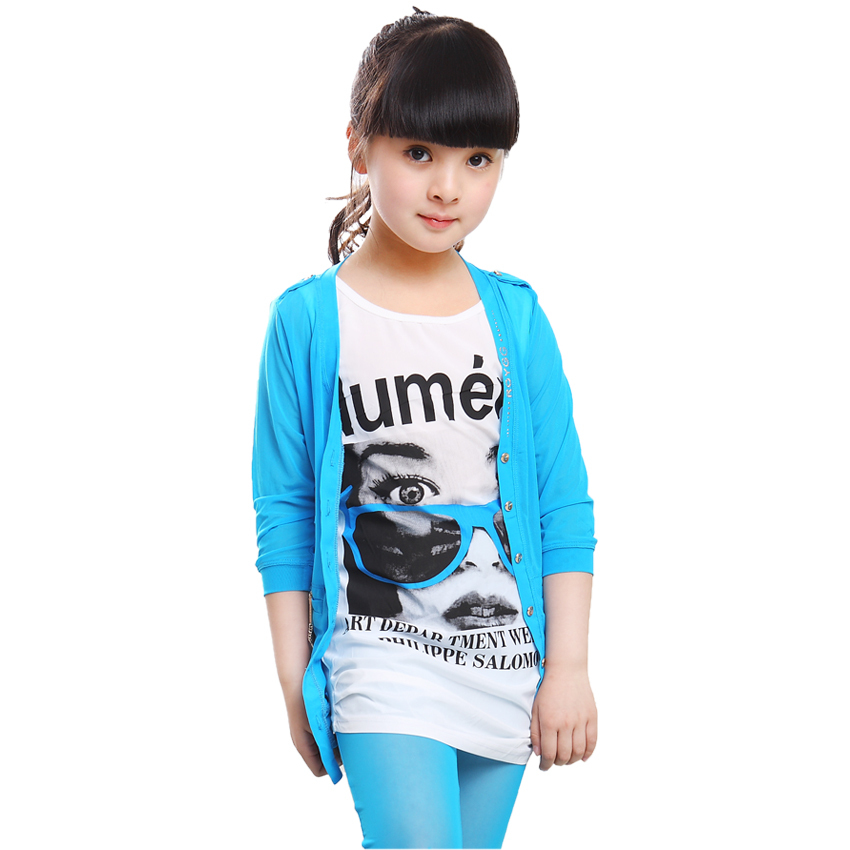 742f40fb1ce2 2017 New Arrive Summer Cool Kids Clothes Girls Cardigan Long .