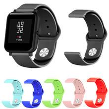 Miękki pasek silikonowy dla Xiaomi Huami Amazfit Bip BIT Lite młodzieży inteligentny zegarek poręczny bransoletka na rękę Amazfit Watchband 20mm pasek tanie tanio ZUCZUG Pasek zegarka Other Dla dorosłych Wszystko kompatybilny