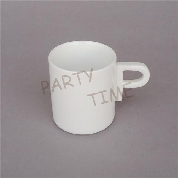 Unique  design coffee cup set, letter shape handle tea