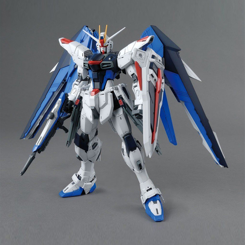 Image 2 - MG Strike Freedom Gundam 1/100 Blue Robot model hot Kids Toy Anime action figures collectibles gift Attached bracket juguetes-in Action & Toy Figures from Toys & Hobbies
