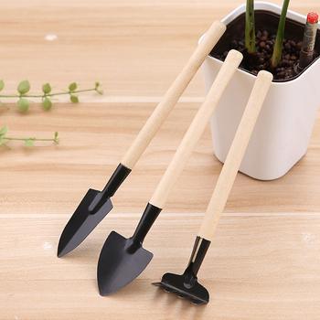 3PC kolor drewna Mini mała łopata łopata narzędzia narzędzia ogrodnicze narzędzia ogrodnictwo w domu rosnące narzędzia akcesoria tanie i dobre opinie