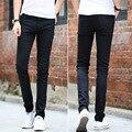 Mens pantalones elásticos apretados Pantalones Vaqueros Delgados del otoño de vaquero de moda flaco lápiz pantalones homme casual jeans negro pantalones del demin