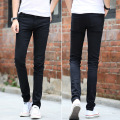 Mens tight stretch pants Slim Jeans autumn fashion cowboy skinny pencil pants homme casual jeans black demin trousers