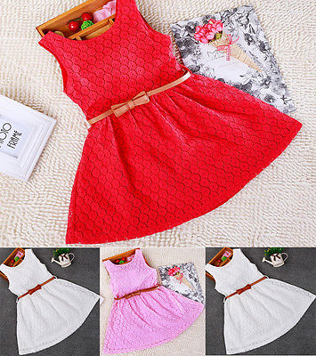 Baby Kids Girls Clothes Dresses Sleeveless Cool Princess Lace Hollow Out Summer Dress Clothes Kids 2 3 4 5 6 7 Years New Cute children dresses 2017 summer fashion style girls lace princess dress kids sleeveless embroidery cute clothes dress for 3 7y