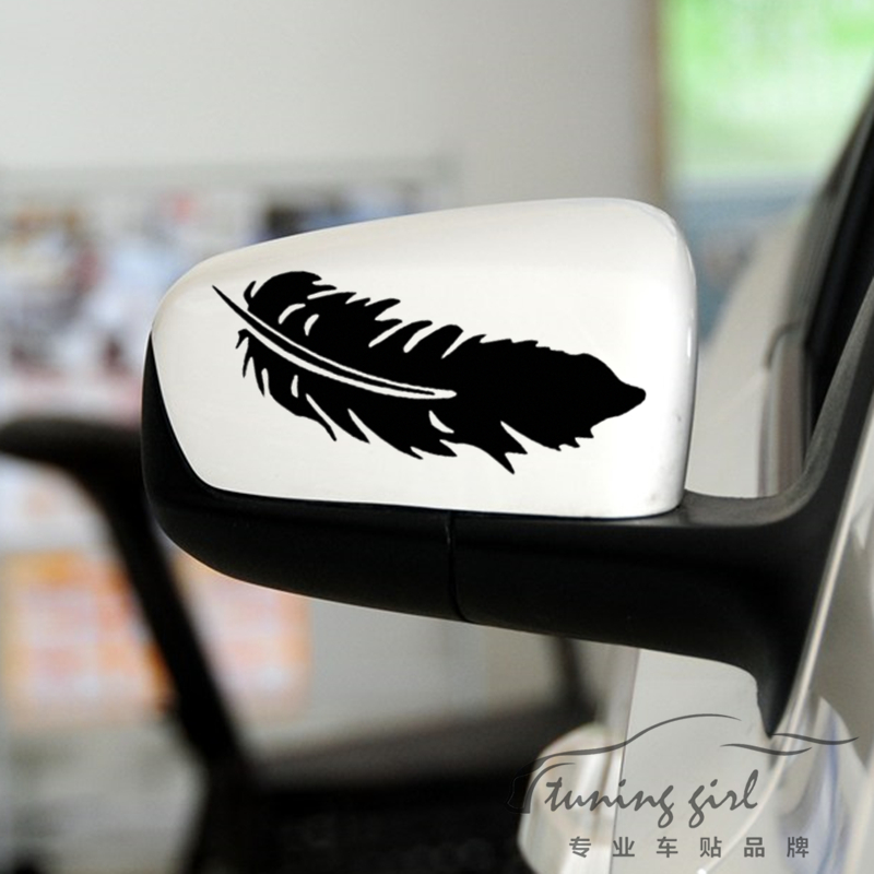 Cart Stickers Leaf Leaves Plant Creative Decals Cover Scratch Waterproof Auto Tuning Styling For Rearview Mirror Windshield D16