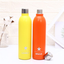 BPA free Water Bottle Insulated Cup Stainless Steel Vacuum Insulated Water Bottle Double Wall Thermos цена и фото