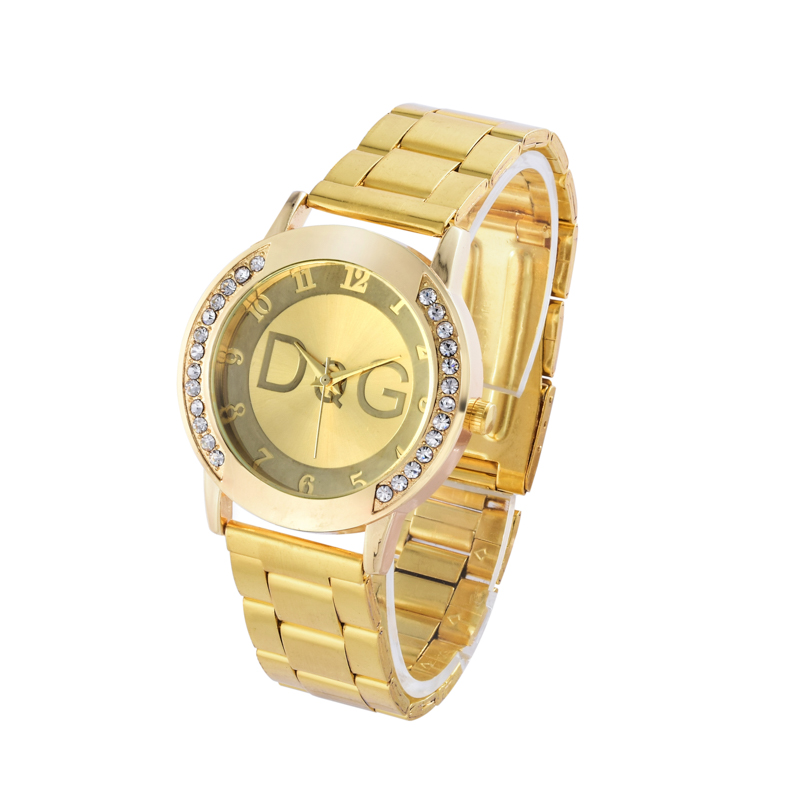 2018 Fashion Watch Women Luxury Brand Gold Quartz Wristwatch Clock Male Female Classic Full Steel Watches Gift Reloj Mujer