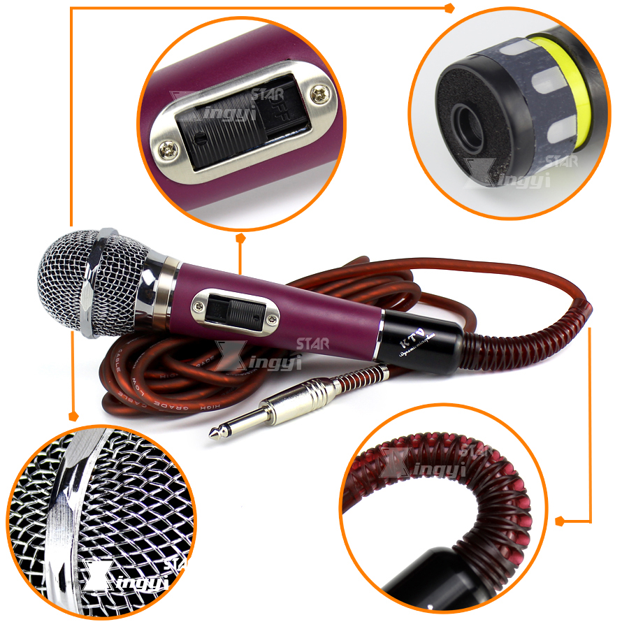Metal Professional Handheld Vocal Dynamic Mic Mike Wired Karaoke Video Different Types Of Circuit Breakers Ehow Click Here Microphone For Pc Ktv Singing With 5m 65 Mm Jack Audio Cable