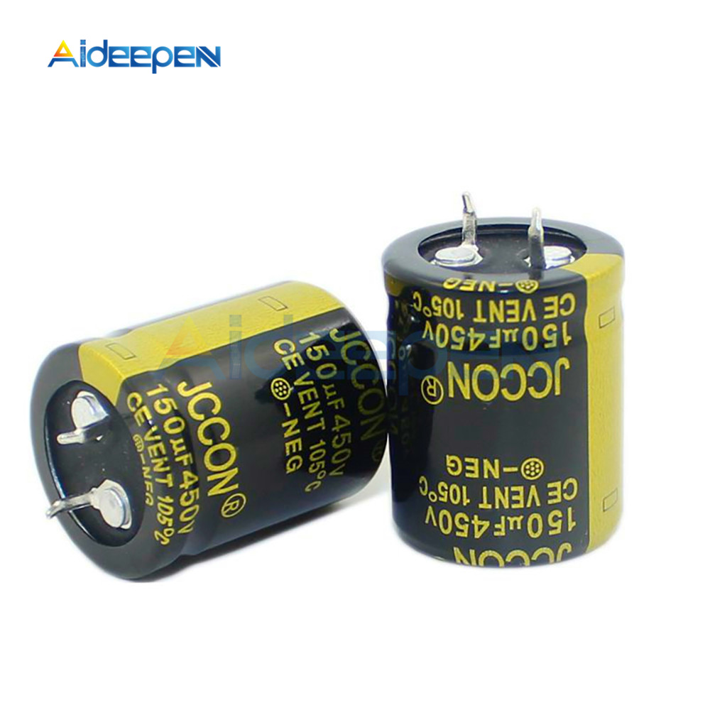 New <font><b>450V</b></font> <font><b>150uF</b></font> <font><b>450V</b></font> Electrolytic <font><b>Capacitors</b></font> Volume 25X30MM High Frequency Low ESR 25*30mm image