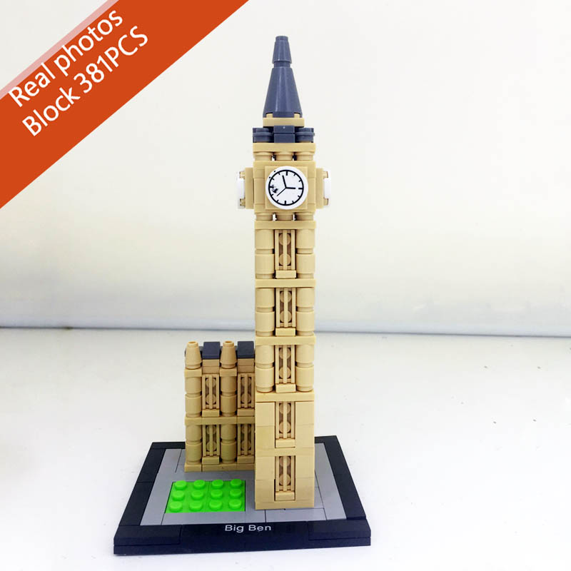 Pogo Compatible Legoe London Great Britain Big Ben 381PCS Architecture Building Blocks Bricks Educational Toys wange 8011 21 great architectures 11 models london bridge big ben tiananmen building block sets educational diy bricks toys