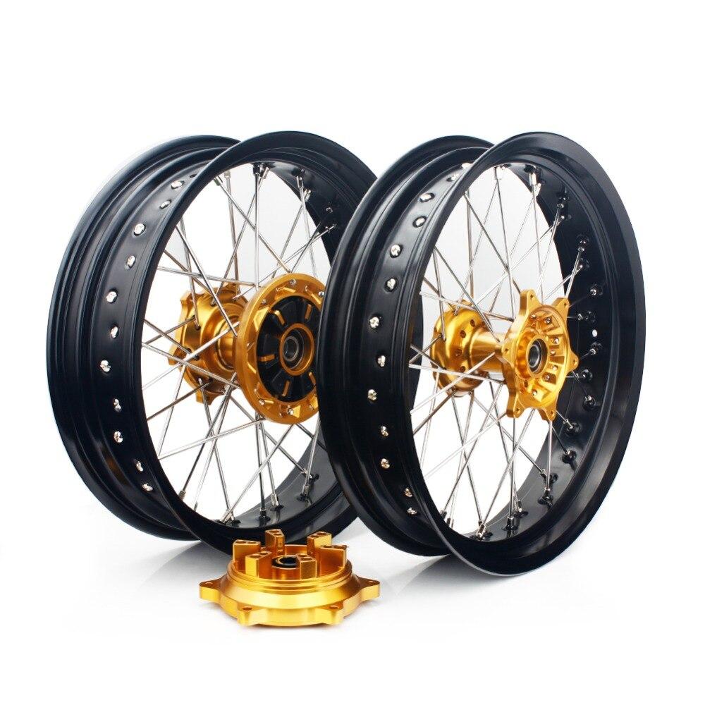 BIKINGBOY спереди и сзади колесные диски концентраторы для SUZUKI DRZ 400 00 04 DRZ400S 00 17 DRZ400E 00 07 DRZ400SM 05 17 супермото 17 3,5 4,25