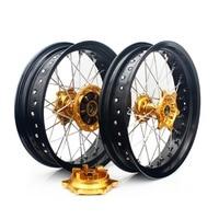 BIKINGBOY Front Rear Wheel Rims Hubs For SUZUKI DRZ 400 00 04 DRZ400S 00 17 DRZ400E 00 07 DRZ400SM 05 17 Supermoto 17 3.5 4.25