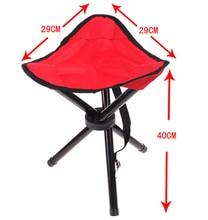 AOTU Large Three Legged Fishing Stool Outdoor Portable Folding Fishing Stool Picnic Chair Folding Camping Chair