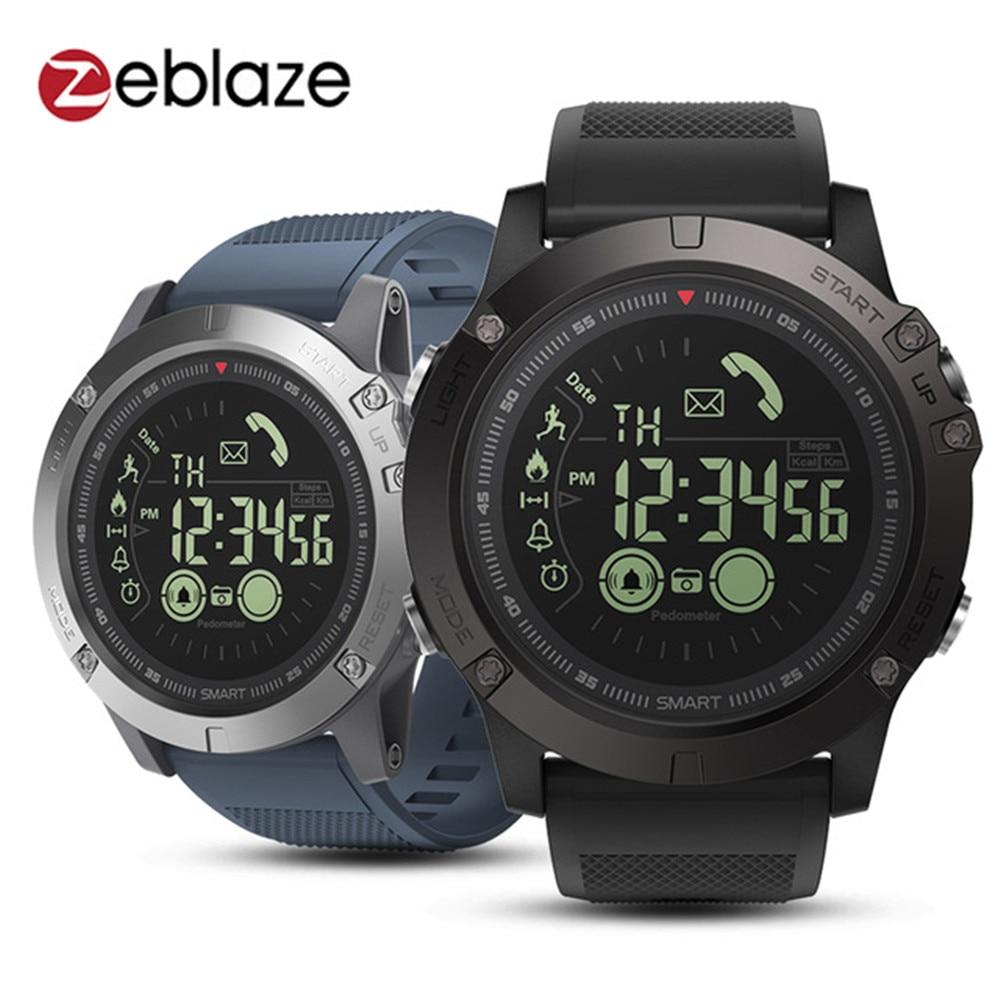 Smart Watch Men 5ATM Waterproof Stopwatch Wristwatch VIBE 3 Bracelet Smartwatch Sports Track 33 month Standby Weather Monitor