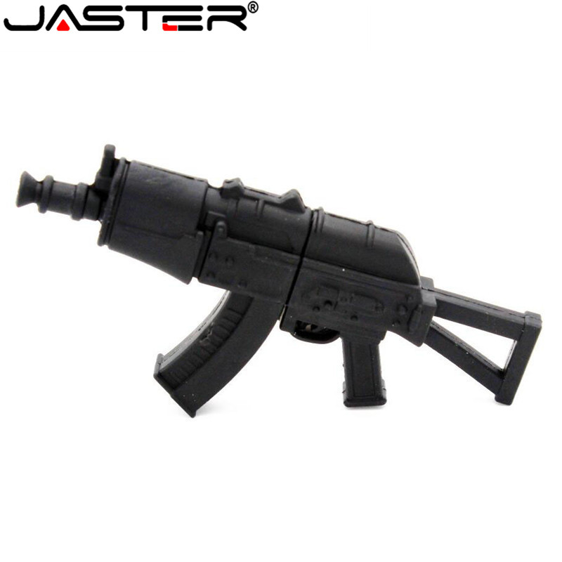 JASTER Cool Ak47gun Model Usb Flash Drive Usb 2.0 Gun Type Pendrive 64GB 32GB16GB 4GBG Memory Stick Pendrives Thumb Drive Gifts