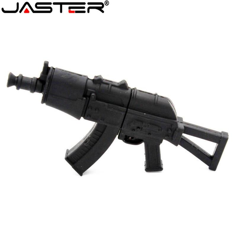 JASTER Cool Ak47gun Model Usb Flash Drive Usb 2.0 Gun Type Pendrive 64GB 32GB16GB 4GBG Memory Stick Pendrives Thumb Drive Gifts