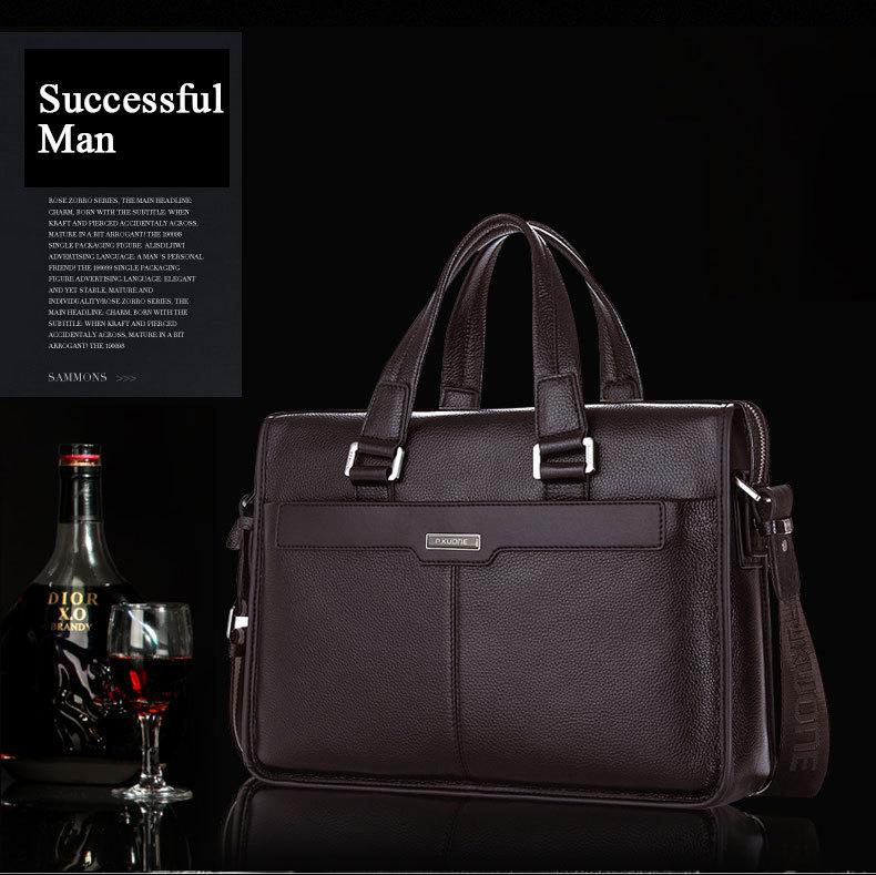 Large Capacity Men Briefcase Laptop Shoulder Bags,Black Brown Genuine Leather Handbag Messenger Bags Bolsas De Marca Bolso Mano мужской ремень cinto couro marca