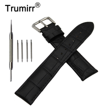 Croco Genuine Leather Watch Band for Fossil Steel Buckle Str
