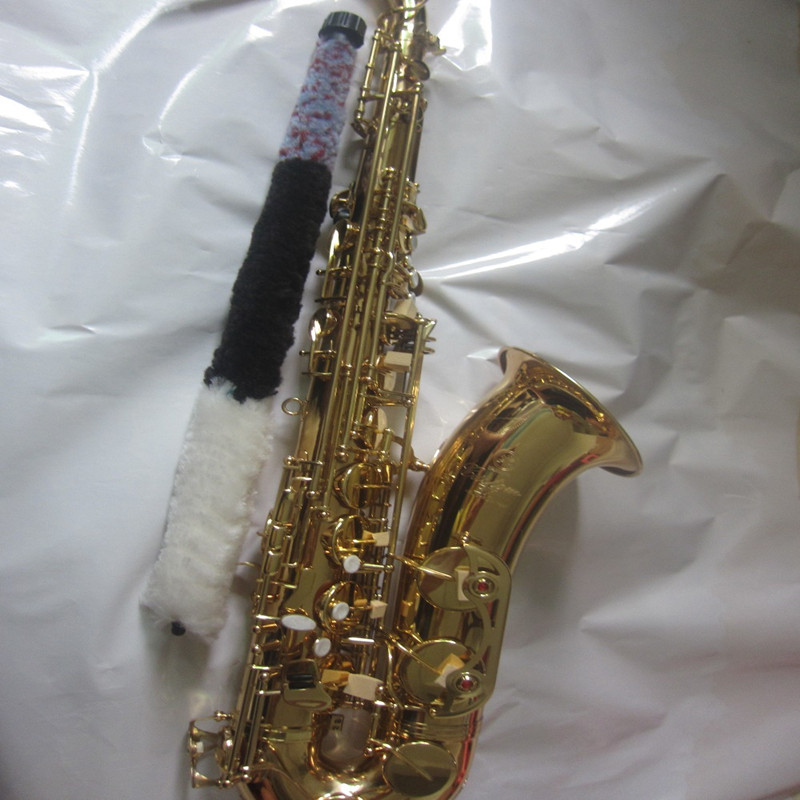 Gold Plated Lacquer YAS-875 tenor Saxophone and Brass Plating Instrument FREE SHIPPING Recorded Sax Musical Instrument bb f tenor trombone lacquer brass body with plastic case and mouthpiece musical instruments