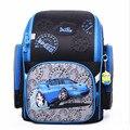 Delune al por mayor niños de la historieta 3d del coche patrón niños mochilas escolares mochilas a prueba de agua plegable ortopédicos