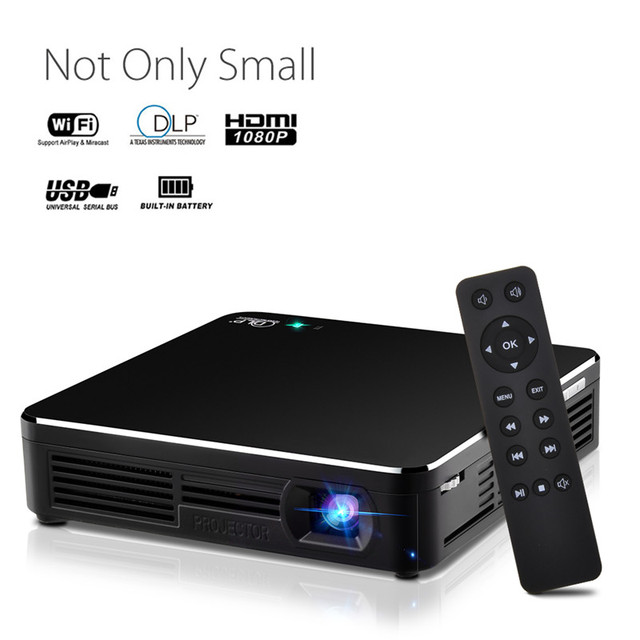 Portable Mini LED Projector Wifi Projector Smart DLP projector Wireless HDMI/USB Input With Tripod For Meeting Household Outdoor