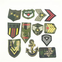 100pcs US Army Military Patches Sew On Applique Badges DIY Embellishments Embroidery Iron Morale Clothes Stickers