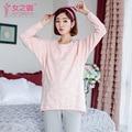 2016 Maternity Dress Autumn winter Pajamas  Pregnant Women Breastfeeding Clothes  cotton clothes  Pajamas suit