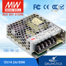 цена на Redsky [freeshipping12] MEAN WELL original LRS-50-5 5V 10A meanwell LRS-50 50W Single Output Switching Power Supply